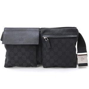 f027fe7510f5 Gucci · Black Canvas Gucci Belt Bag (Fanny Pack) Monogram